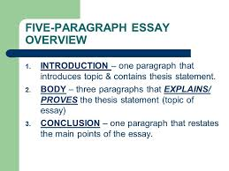 thesis statement notes five paragraph essay overview  five paragraph essay overview 1