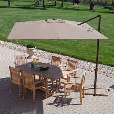 modern ft offset cantilever square patio umbrella with mocha