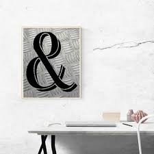 ampersand print industrial decor and print ampersand sign