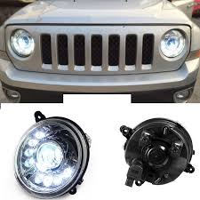 image is loading 2pcs xenon headlights 8 led drl black housing