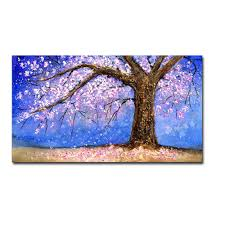 hand painted modern abstract flower tree landscape oil painting on canvas living room home wall decor