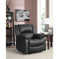 Warren Traditional Faux Leather <b>Recliner Chair</b> - <b>Black</b> | Best Buy ...