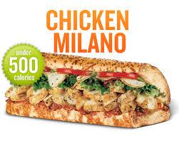 Heaven On Earth Quiznos Chicken Milano Sub Sandwich