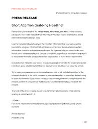 Press Release Templet Press Release Template Making Music