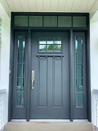 new gray fiberglass entry door system on cranberry pennsylvania home