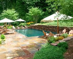 Swimming Pool Landscaping Designs Tropical Pool Area With Gardens And Privacy 12 Photos Of The