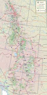 map of the rocky mountains  rocky mountain maps  guidebooks