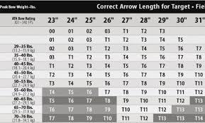 Easton Aluminum Arrow Chart 18 Specific Arrow Diameter Chart
