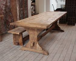 Reclaimed Oak Dining Table Rustic Wooden Dining Table Wooden Furniture Pinterest Chairs