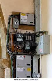 electrics fuse box stock photos electrics fuse box stock images electrical wiring and fuse boxes in a church stock image