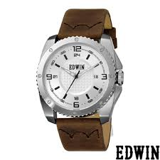 mens watches edwin edwin ew1g005l0014 leather band watch watch