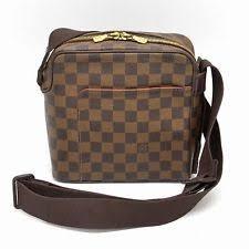 louis vuitton bags for men. authentic louis vuitton damier shoulder crossbody bag messenger olav pm brown lv bags for men