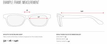 Specs Frame Size Chart Specs Appeal Choosing A Spec Tacular Pair Of Eyeglasses