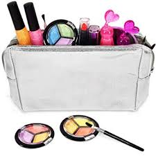 kids makeup set for s with glitter cosmetics bag real washable s makeup kit