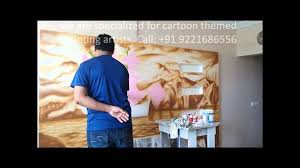 hand painted wall mural artist in mumbai on hand painted wall murals artist with hand painted wall mural artist in mumbai youtube