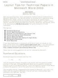 Technical Publishing With Microsoft Word Microsoft Word Menu