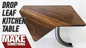 Woodworking Project Kitchen Drop Leaf Table Youtube