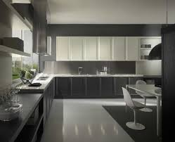 ultra modern italian kitchen design with gray and white inte