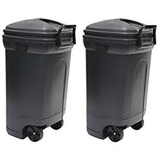 Outdoor Trash Can With Wheels Extraordinary Amazon United Solutions TB32 Rough And Rugged Rectangular 32