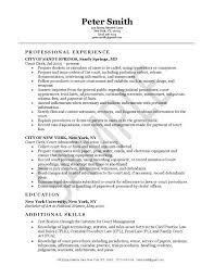 Legal Clerk Sample Resume 22 Schedule - Clerical Resume Templates .