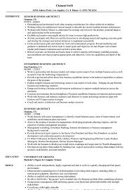 Business Architect Resume Samples | Velvet Jobs