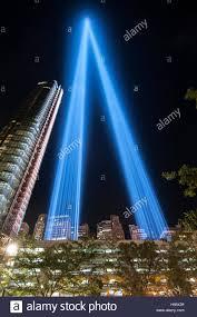Installazione d arte omaggio alla luce in ricordo del 11 settembre 2001 gli  attacchi terroristici, 9/11, la parte inferiore di Manhattan Foto stock -  Alamy