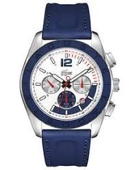 lacoste men s green seattle watches robes lacoste watch men s chronograph blue rubber coated leather strap 46mm 2010666 lacoste