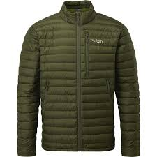 rab microlight down jacket men s army cactus