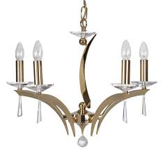 wroxton 5 light gold crystal chandelier oaks lighting