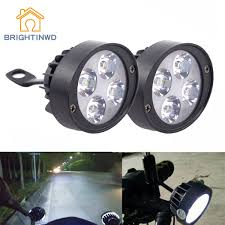 Mirror Emergency Lights Us 18 64 31 Off Brightinwd 2pcs Electric Lights Super Bright Led Universal Motorcycle Modified Rearview Mirror Headlight External Bright Light In