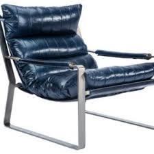 blue leather chair. Skyline Leather Chair, Navy, Accent \u0026 Occasional Chairs Blue Chair