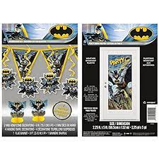 Batman wall decal is a popular way to easily decorate your home background. Amazon Com Batman 7 Pc Decoration Kit And Large Door Poster By Bt Posters Prints