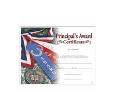 Principal Award Certificate 7050 Principals Award