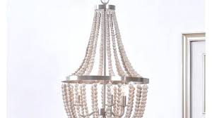 remarkable antique whitewash wood bead chandelier