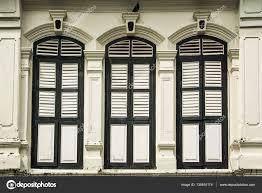 Fenster Im Altbau Im Sino Portugiesischen Stil Stockfoto