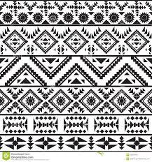 simple navajo designs. Seamless Black And White Navajo Pattern. Aztec, Illustration. Simple Designs
