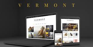 Wordpress Website Templates Fascinating Vermont WordPress Magazine And Blog Theme By Shadowfiend ThemeForest