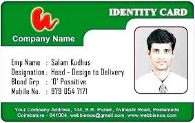 Identification Card Samples Personal Identification Card Template