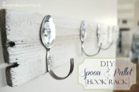 decorative wall hook rack. Spoon Pallet Hook Rack DIY Decorative Wall For