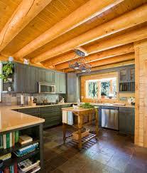 Rustic Cabin Kitchen Cabinets Cabin Kitchen Cabinets Kitchen Rustic With Cabin Ceiling Lighting