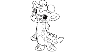 Small Picture Learning Friends Ms Giraffe coloring printable