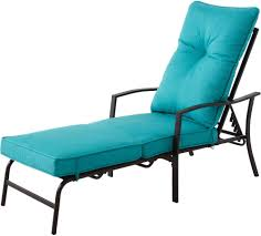 amazing black steel outdoor lounge chair with blue outdoor chair cushions decor