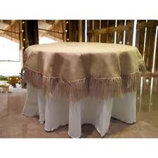 natural burlap tablecloth 60 round with fringe