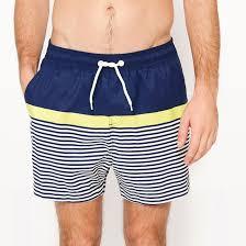 <b>Шорты пляжные в</b> полоску темно-синий/синий <b>La Redoute</b> ...