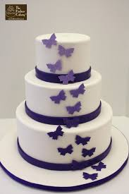 Purple Ombre Butterfly Wedding Cake The Hudson Cakery