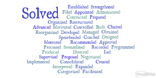 Resume Words To Use Best Resume Words 20