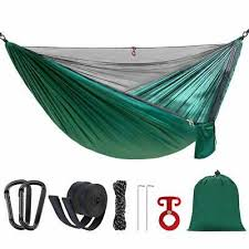 <b>Portable Double Single Camping Hammock</b> with Mosquito Net and ...