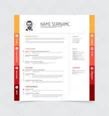 Cv Resume Template Stock Vector Orson 68683543
