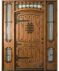 single front doorsFront Door Custom  Single with 2 Sidelites  Solid Wood with Dark