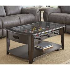 Dark Walnut Brown Coffee Table with Foosball - Diletta